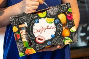 Ящичек с фруктами «Подарок»